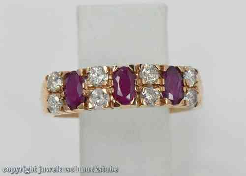 Rubin Diamantring Brillantring Ring Diamanten Brillanten